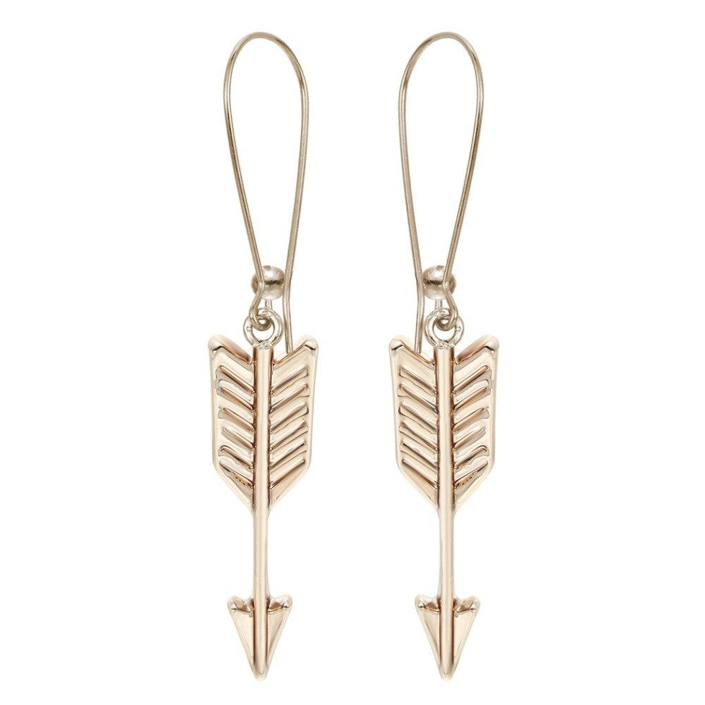 QIAMNI hurtownie biżuteria strzałka Dangle kolczyki ślubne Dangle kolczyki tanie biżuteria dla kobiet druhna prezent Brinco Bijoux