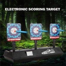 Cible électrique drôle pour les accessoires de pistolet Nerf bricolage haute précision marquant les jouets de réinitialisation automatique pour les pièces de jouets de sport amusants en plein air