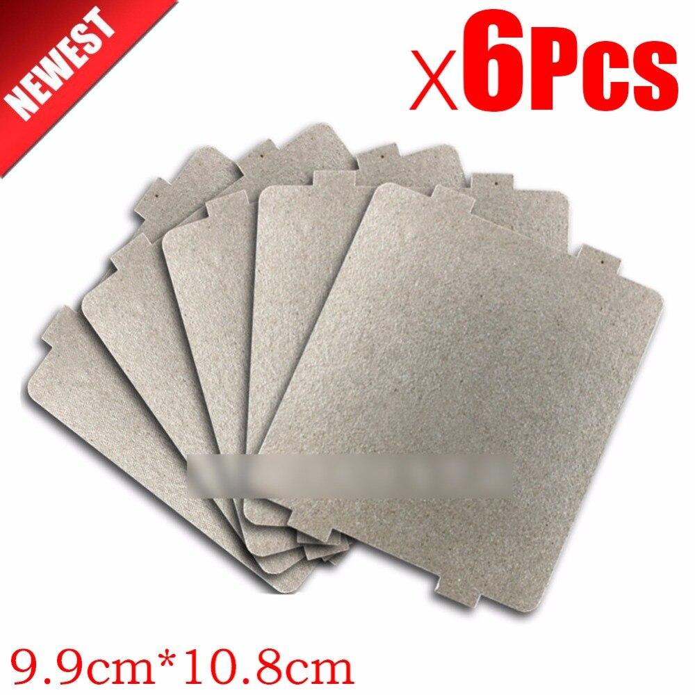 ¿6 uds 9,9 cm * 10,8 cmcm espaà a engrosamiento mica placas microondas planchas para hornos para Galanz Midea Panasonic LG etc.? Magnetrón tapa