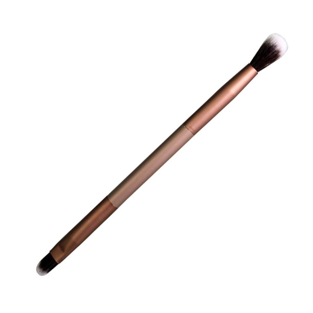 2 Ways Double Ended Metal Handle Brush Eyeshadow Eyebrow Eye Shadow EyeLiner Eyes Makeup Contour Con