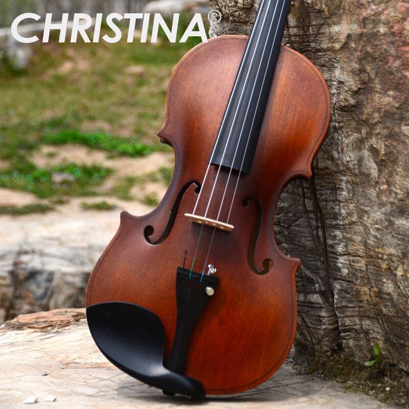 Italy Christina V01 beginner violin Antique Maple violin 4/4 3/4 Handmade musical instrument & case,bow,rosin