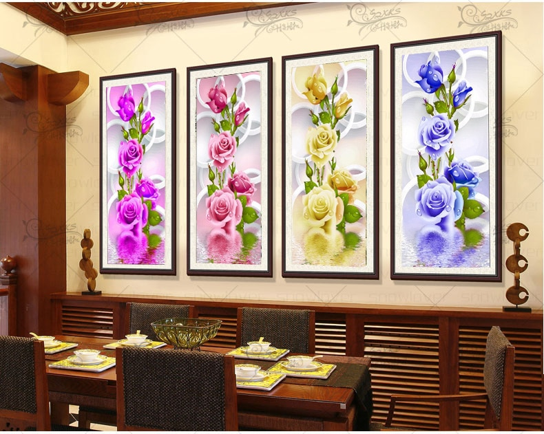 2017 Rushed Sale Diy 5d Full Diamonds Embroidery Peony Flowers Round Diamond Painting Cross Stitch Kits Mosaic Home Decoration