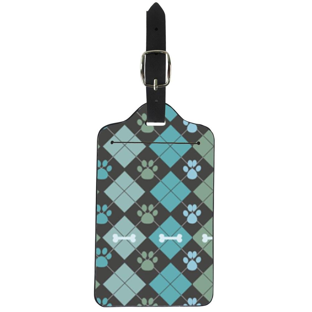 Ярлык для багажа с рисунком посылки бульдога Женская дорожная идентификационная