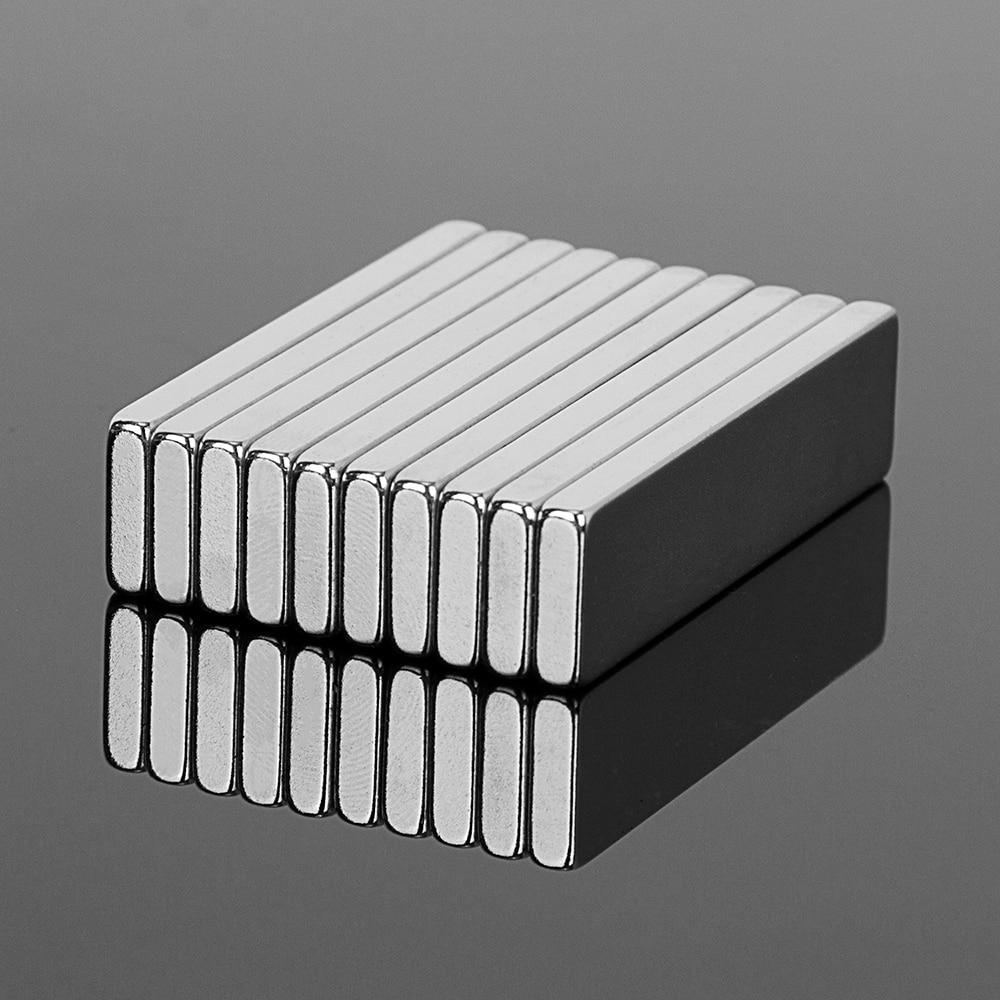 10PCS 40x10x3mm N52 Super Strong Block Cuboid Neodymium Magnets 40*10*3mm Rare Earth Powerful Magnet