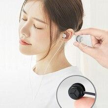 Sommeil dans loreille écouteur souple Silicone casque léger écouteur avec Microphone 3.5mm suppression de bruit écouteur pour téléphone