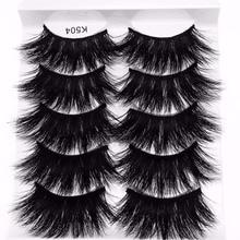 Nuevos 50 pares de pelo de visón 3D pestañas postizas cruzadas esponjosas 22mm-25mm pestañas herramientas de maquillaje de ojos hechas a mano de extensión