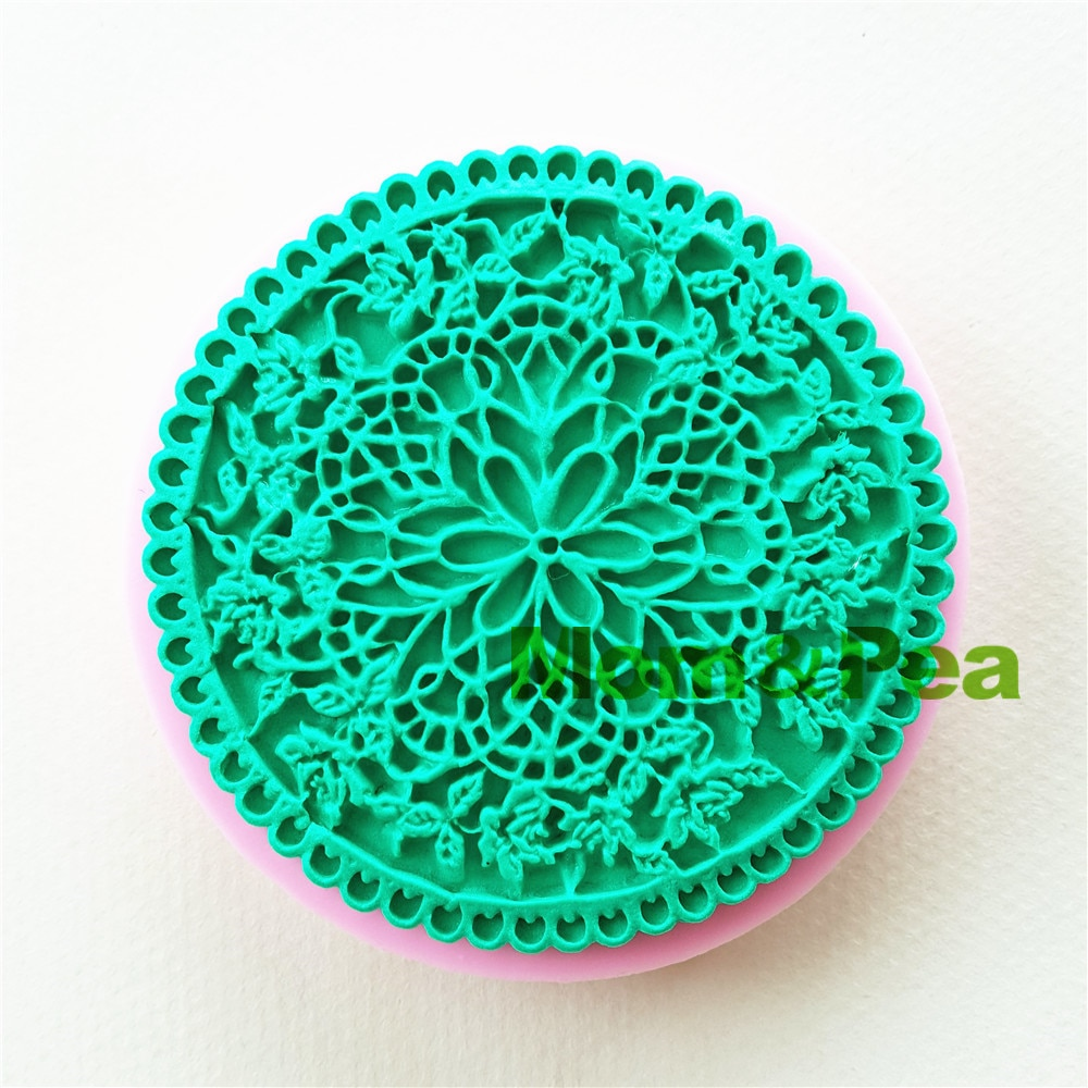 Mom&Pea 1069 Free Shipping Round Flower Silicone Mold Cake Decoration Fondant Cake 3D Mold Food Grade