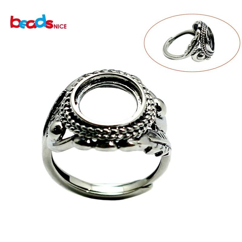 Beadsnice Thai hoja de plata redonda Anillos de cola joyería de dedo de moda nueva llegada S925 anillo de plata para Mujeres Hombres joyería ID32383