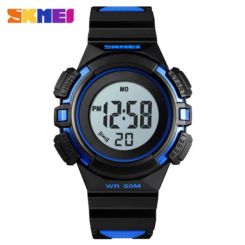 SKMEI Children Outdoor Sports Watch Student LED Digital Watches Alarm Clock Stopwatch Waterproof Function Watches 1485