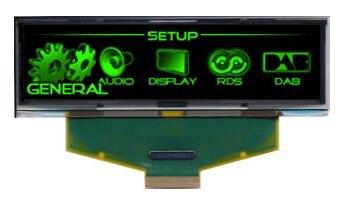 3.12 pollice VERDE Schermo LCD OLED 256X64 OLED Display LCD A LED Module con SSD1322 Unità IC per Arduino