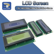 Lcd 디스플레이 보드 모듈 1602 2004 12864 pcf8574t pcf8574 iic/i2c 인터페이스 adapte plate arduino 용 5 v 청색/황색 녹색 화면