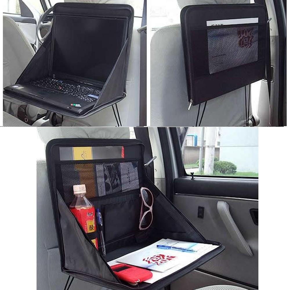 سطح المكتب الخلفي للسيارة ، للطعام ، والكمبيوتر المحمول ، وصينية دعم الكمبيوتر ، ورفوف متعددة الوظائف قابلة للطي ، وتخزين السيارة
