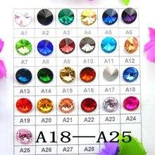 Colle en cristal de forme ronde   6mm 8mm 10mm 12mm 14mm 16mm 18mm mixte, Rivoli sur perles strass, accessoires bricolage
