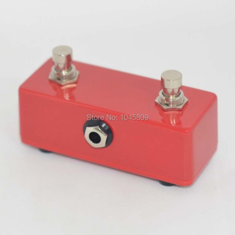Amplificadores de guitarra roja botón momentáneo interruptor de pie de guitarra DUAL 2 CHANNE para amplificador de guitarra