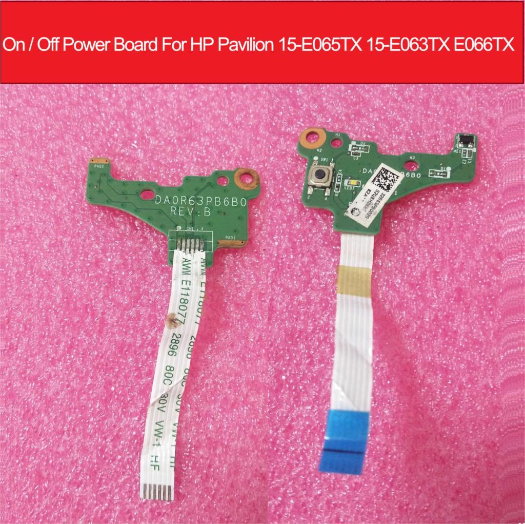 On / Off لوحة الطاقة ل HP بافيليون 15-E065TX 15-E063TX E066TX السلطة الجانب زر التبديل المجلس مع كابل DA0R63PB6B0