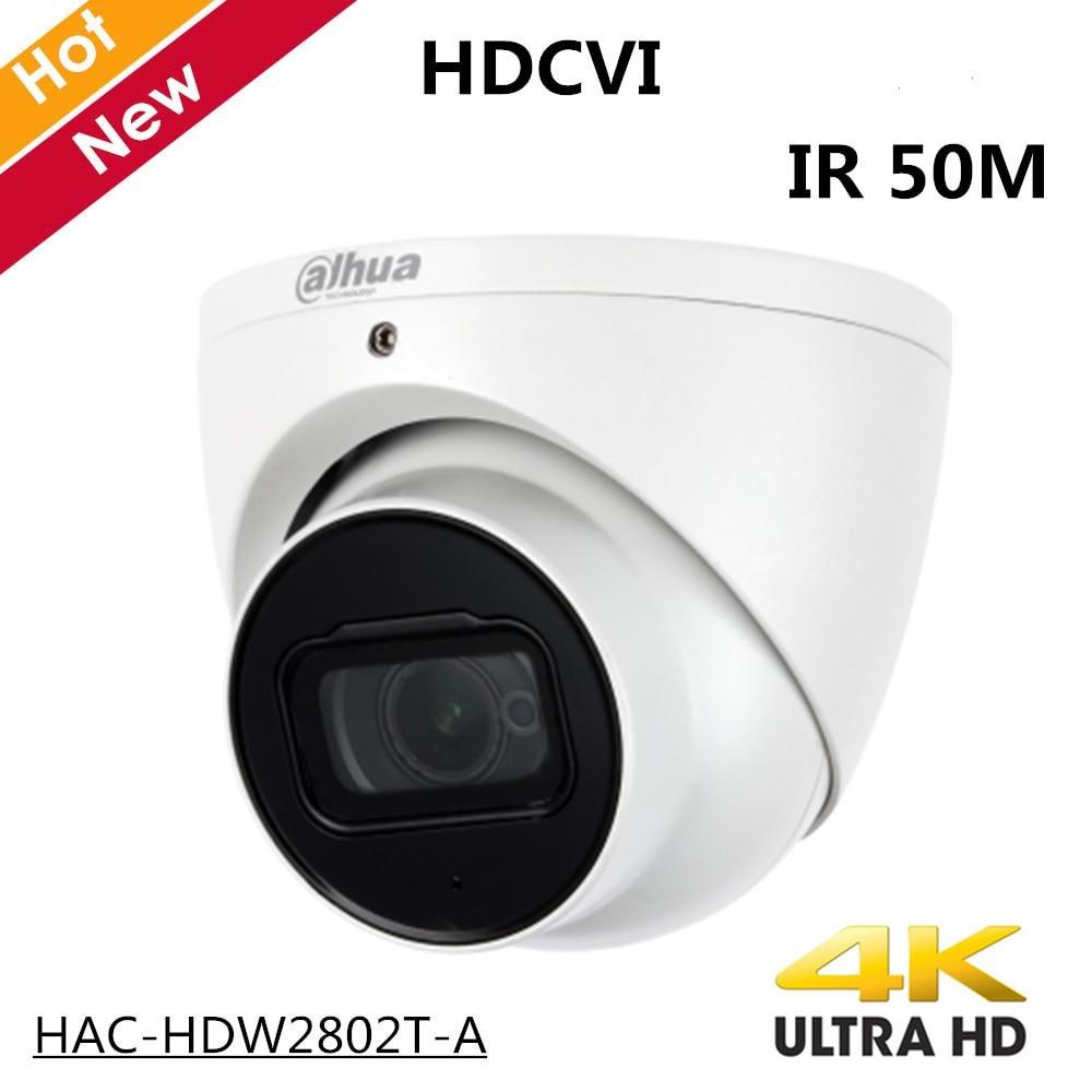 4k Dahua de interior al aire libre HDCVI Cámara HAC-HDW2802T-A 4K Starlight HDCVI IR Coaxial CCTV Cámara 3,6mm lente fijo IR 50m IP67