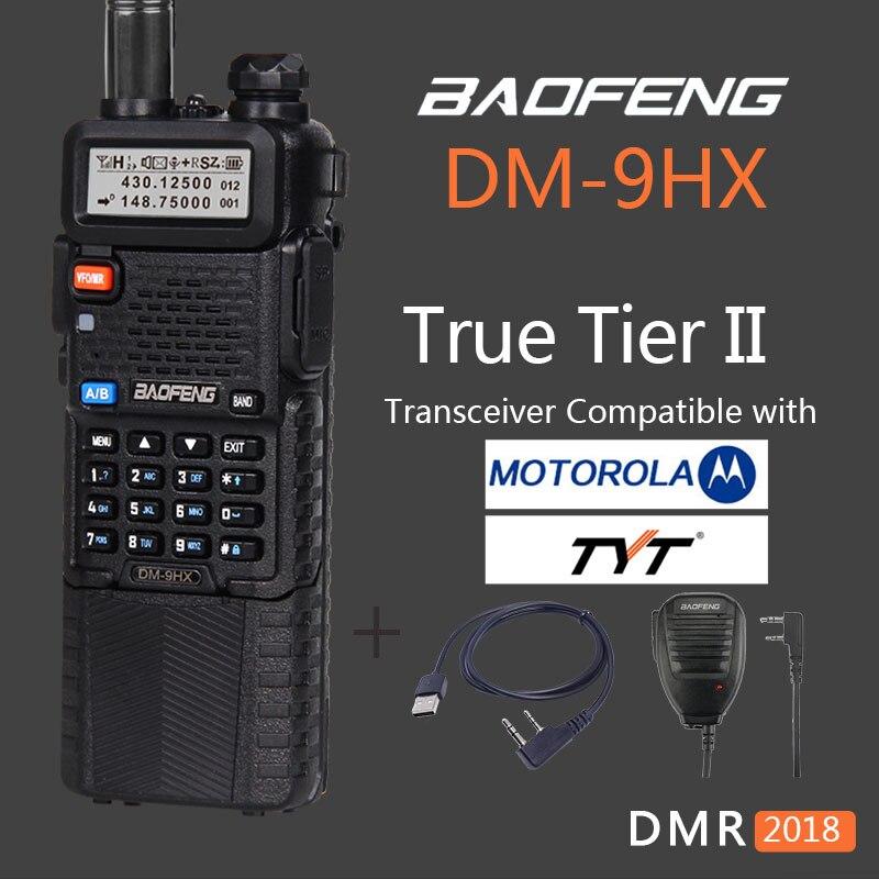 Woki Toki Baofeng uv-5r de nivel II digital DMR DM-9HX vhf uhf radio de dos vías walkie talkie hermana baofeng uv-82 10