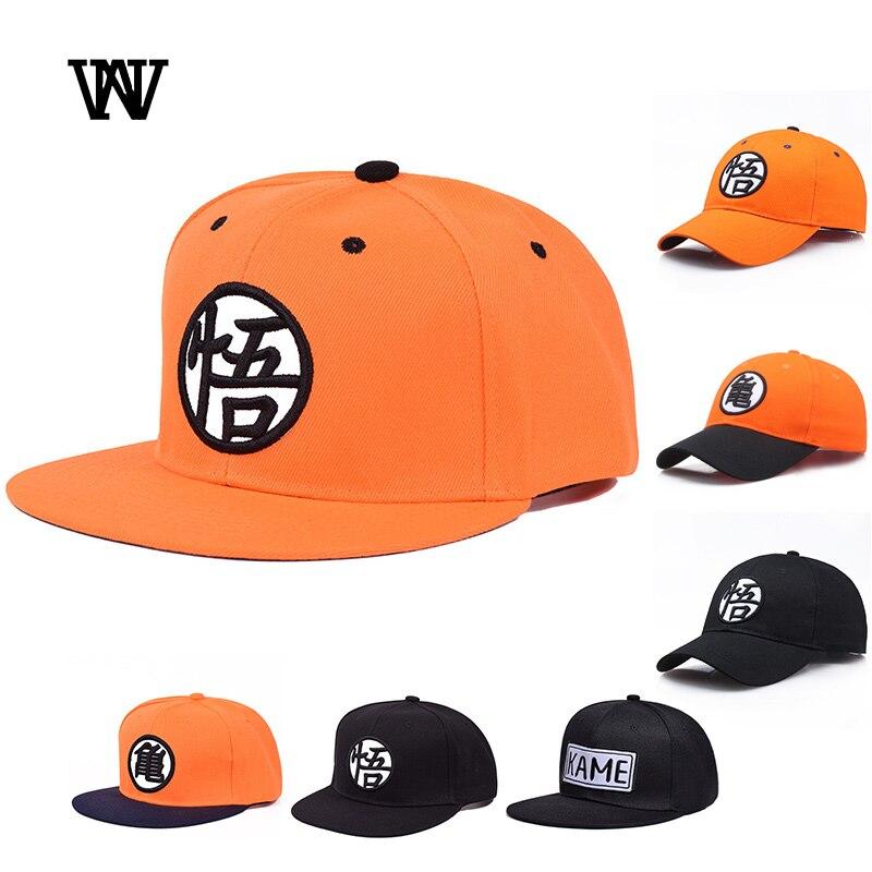 2019 Goku Dragon Ball Cap mujer Snapback gorra de béisbol mujeres negro camionero gorra Casual papá sombreros para hombres bordado hueso BQM-CZX72