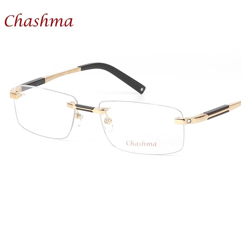 Очки Chashma, брендовые дизайнерские титановые очки без оправы, мужские Оптические очки в оправе для близорукости, деловые очки без оправы