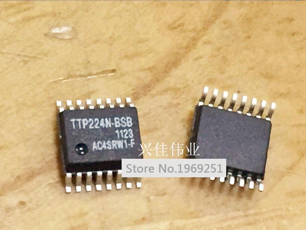 10 unids/lote 4 botones táctiles IC TTP224-BSB TTP224 4 botones táctiles IC p SSOP16 nuevo original