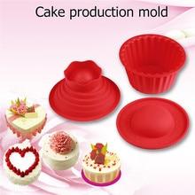 Nuova Famiglia di Silicone Gigante Bigné Della Muffa, 3 pz Big Top Cupcake Stampo In Silicone Resistente Al Calore Cucina Cuocere Strumenti di Cottura Maker