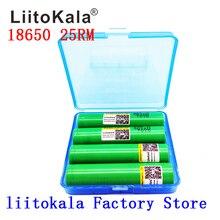 2019 nouvelle batterie lithium liitokala 18650 2500mah 25RM INR 18650 25R M 20A batterie + boîte