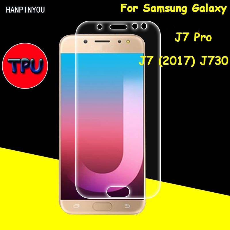 Full Coverage Clear Soft TPU Film Screen Protector For Samsung Galaxy J7 Pro 2017 J730 Cover Curved