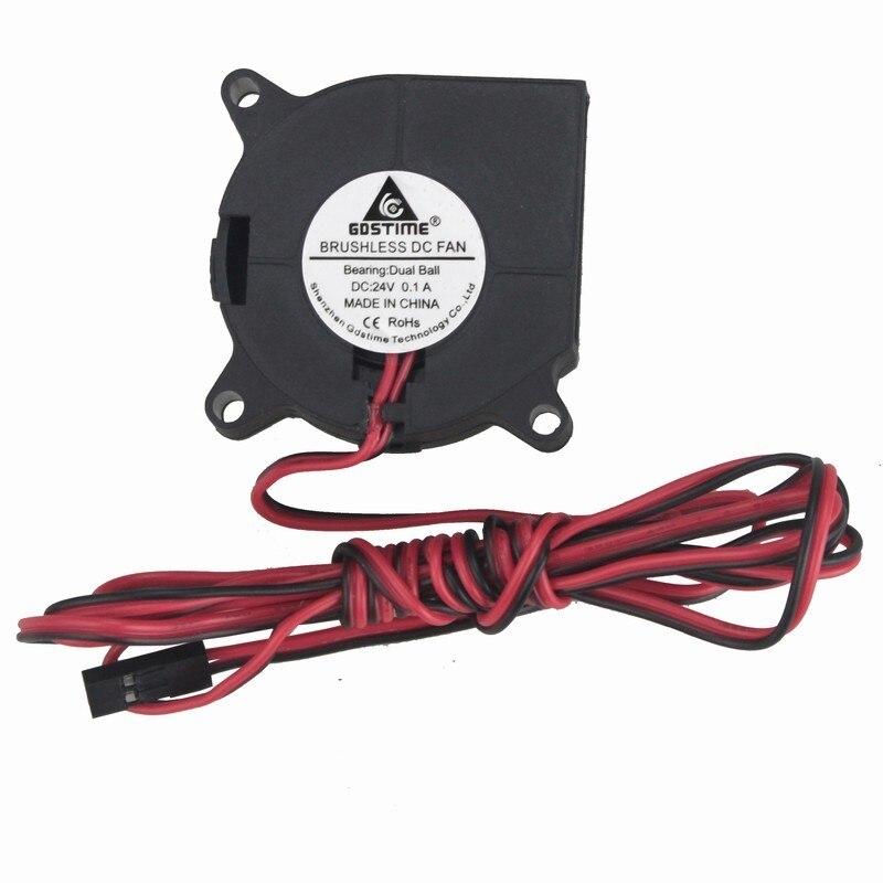 Gdstime 2 шт. DC 24 В Вентилятор охлаждения 40 мм x 20 мм шарикоподшипник 4020 3 фута кабель провод длинный 3D принтер кулер 4 см 2Pin