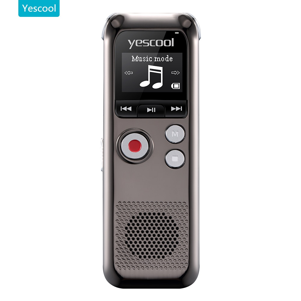 Yescool A60 מקצועי דיקטפון espia מיני קול מקליט registrador grabadora דה voz תמיכה MP3 נגן אודיו מקליט
