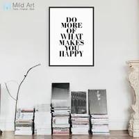 Moderne minimaliste noir blanc motivation typographie citations A4 Art imprimer affiche mur photo toile peinture personnalise maison deco