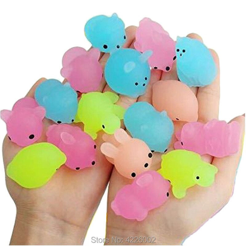 new pack Mochi Squishy Squeeze Cat Cute Antistress Squish Set Soft Mini Animal Squichy glow in the dark Kawaii Toys for Children enlarge