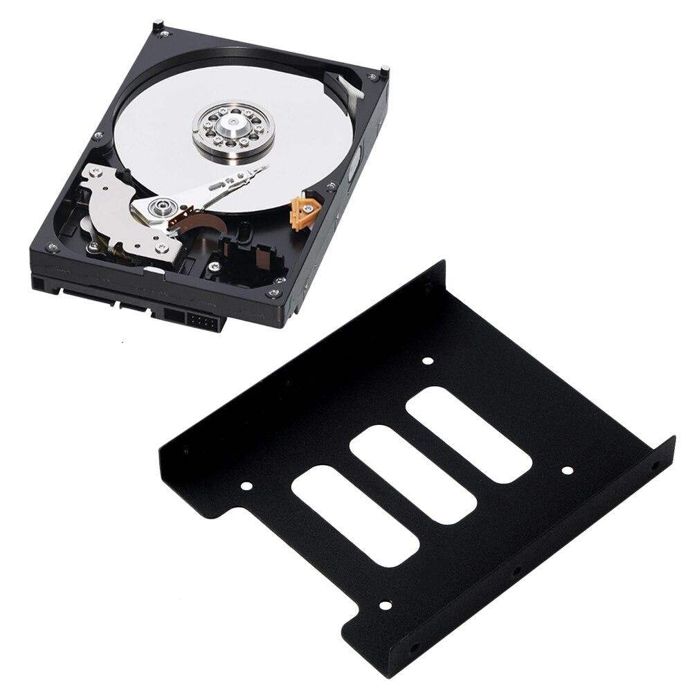2,5 pulgadas SSD HDD a 3,5 pulgadas Metal montaje adaptador soporte Dock soporte de disco duro para PC carcasa de disco duro