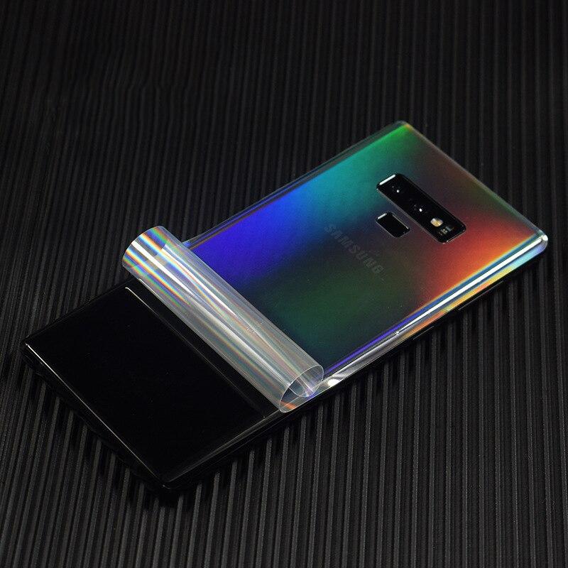 Аврора Градиент прозрачный для Samsung Galaxy Note 10 9 S10 S9 S8 Plus S7 мобильный декоративный протектор Note9 задняя пленка наклейки