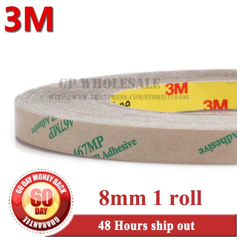 (0,06mm de espesor), 8mm * 55 metros Delgado 3M 467 200MP cinta adhesiva de 2 lados Placa de alta resistencia a la temperatura goma espuma Trim Bond