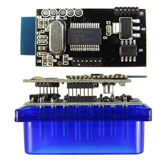 Elm 327 в 1,5 Obd2 считыватель кодов ELM327 Bluetooth V1.5 OBD Автомобильные диагностические инструменты ELM 327 Obdii диагностический сканер для Android