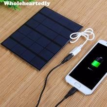 Solar Panel 6V 3,5 W Hohe Effizienz Mini Solar Panel Modul Solar Ladegerät für Telefon Mp3 Mp4 Pad Tablet USB Multimedia