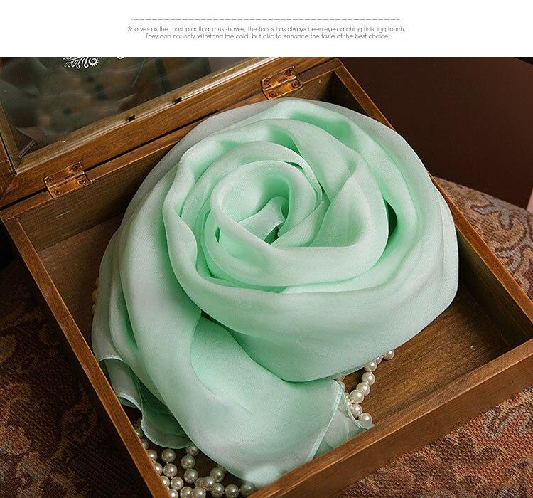 Large beach womens 100% Silk scarves brand luxry designer Soft Green rayon pendant kids scarf pashminas and newborn Wrap Hijab