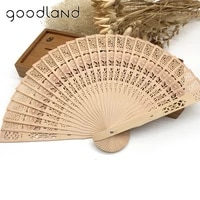 free shipping 5pcs 20cm chinese folding wooden carved folding fan pocket fan wedding favors deco mariage gifts
