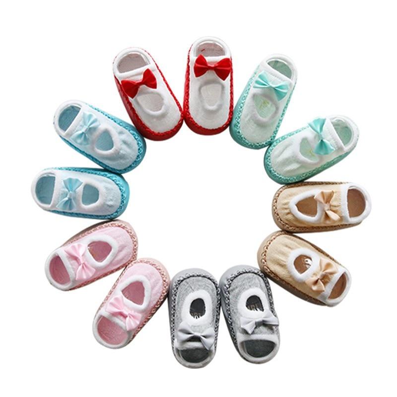 Newborn Boy Girls Socks Cute Baby Cartoon Unisex Newborn Anti Slip Baby Girls Boys Cotton Toddler Boat Socks