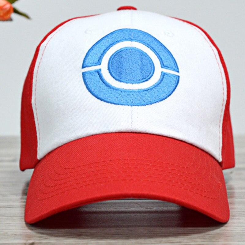 Gran oferta, disfraz de Cosplay de Anime Pocket Monster Ash Ketchum, sombrero de Cosplay, gorra y sombrero de Sol Rojo de estilo veraniego