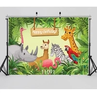 zoo animals children party photography backdrops for photo studio photo shooting vinyl cloth custom backgrounds photophone