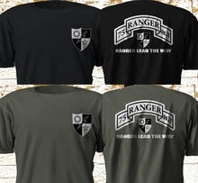Nova 75th ranger regimento do exército rangers exército dos eua força especial militar S-3XL 2019 moda cor sólida camisa masculina t