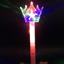 LED Flashing Stick Fairy Magic Wand Sticks Light up Princess Crown Cheer Party Wand wedding birthday home decor