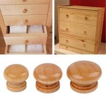 10pcs Natural Wooden Cabinet Drawer Wardrobe Door Knob Pull Handle Hardware