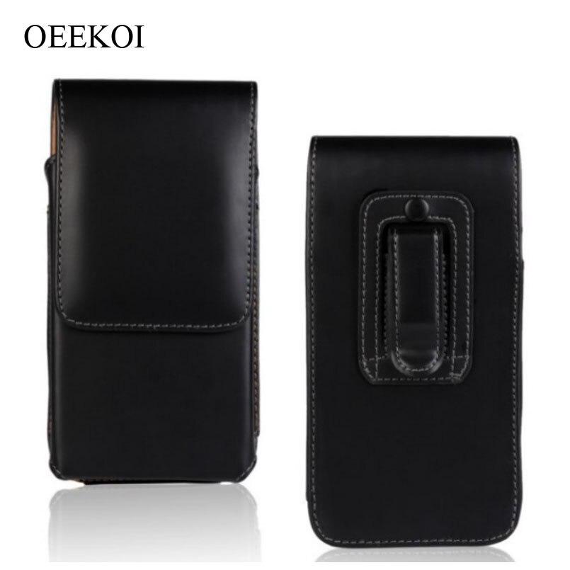 OEEKOI Gürtel Clip PU Leder Taille Halter Flip Tasche Fall für Cubot Z100 Pro/Echo/X16 S /regenbogen/X17 S/S208 5 Zoll