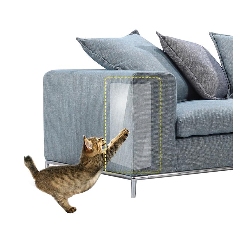 2 unids/set de pegatinas transparentes de PVC para rascar gatos, para sujetar muebles de sofá, protección para gatos dañados, suministros para mascotas, productos