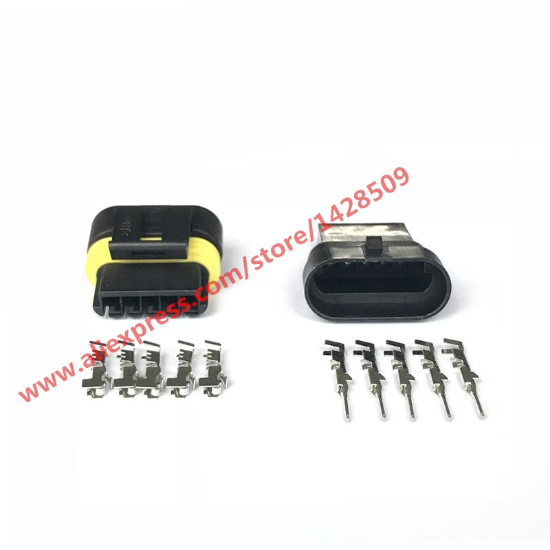 5 Sets 5 Pin 12162825 Female Male Automotive Electrical Connector Ignition Coils Plug