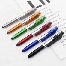 1 قطعة مصباح ليد قلم حبر جاف 1.0 مللي متر أسود الحبر الكرة القلم للكتابة أداة طالب القرطاسية مدرسة مكتب التموين مبيعات الهدايا