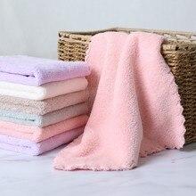 Serviette de nettoyage de la maison 25x25cm 4 pièces   Petite serviette en fiber super fine de dessin animé pour enfant, serviette de nettoyage de la maison pour enfants, haute qualité