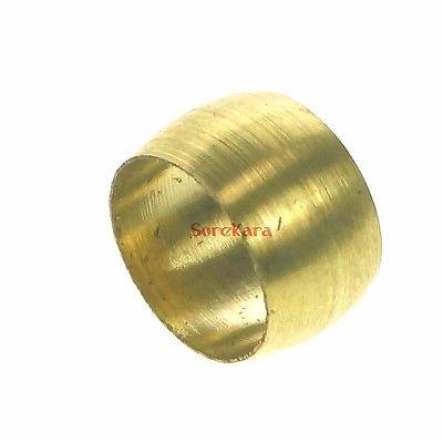 5 peças lote 5 latão ajuste manga de compressão encaixe anel virola para 16mm o/d tubo